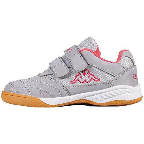 Kappa Damen Kickoff Sneaker, 1522 Silver/pink, 39 EU