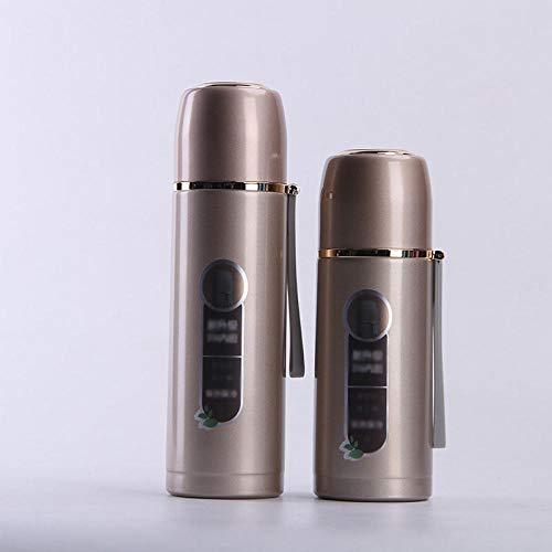 Yumanluo Cantimplora Termo con,Matraz de vacío de Acero Inoxidable-Golden_500ml,Botellas de Frío/Caliente
