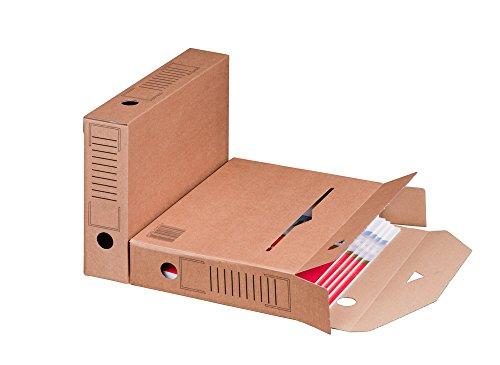 Smartbox Pro Archiv-Ablagebox mit Automatikboden, 25er Pack, braun