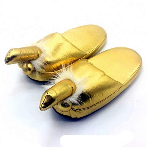 Tinpia Damen Mischief Home Hausschuhe Golden Penis Pelz Slides Frauen Pantoffel Hausschuhe Zapatos Mujer Flip Flops Frauen