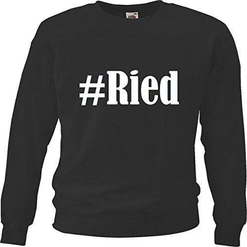 Reifen-Markt Sweatshirt #Ried Größe 2XL Farbe Schwarz Druck Weiss