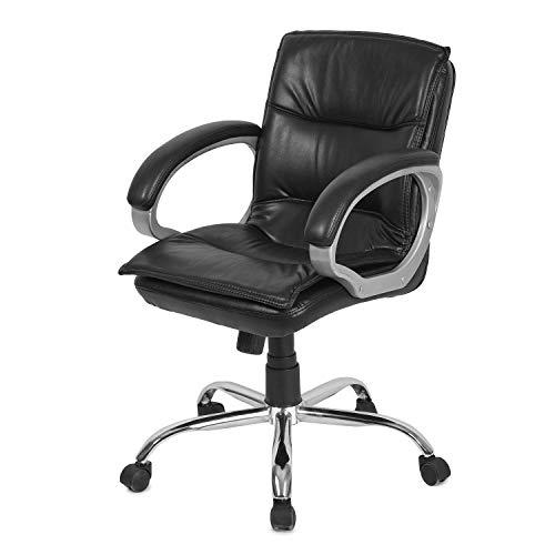 GTB BT-326 Iron Medium Back Revolving Office Chair (Black)