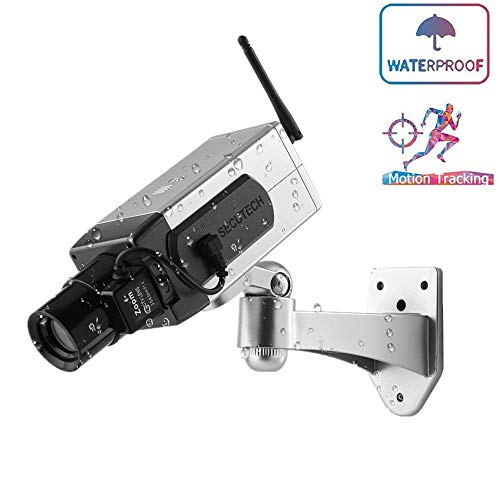 Fantastic Prices! Outdoor Indoor Bullet Dummy Camera, Flashing LED High Water Resistance CCTV Securi...