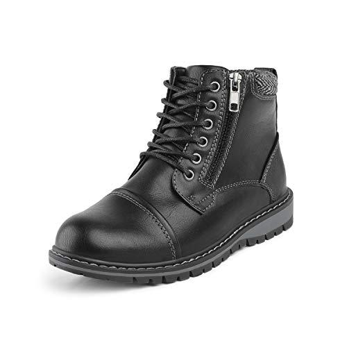 Bruno Marc Little Kid Apache-03 Black Faux Fur Winter Snow Ankle Boots Size 2 M US Little Kid