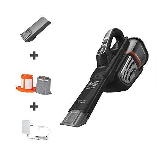 BLACK+DECKER Dustbuster Handheld Vacuum, Cordless, AdvancedClean+, Black (HHVK515J00FF) , Gray