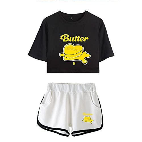 XXHDEE Kpop BTS Butter Jung Kook - Sudadera de verano para mujer (color: 1, talla: XS