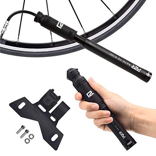 P2R Light Mini Bike Pump - Presta & Schrader Portable Bicycle Air Pump - Accurate Inflation - 100 PSI High Pressure for Road & BMX & Mountain