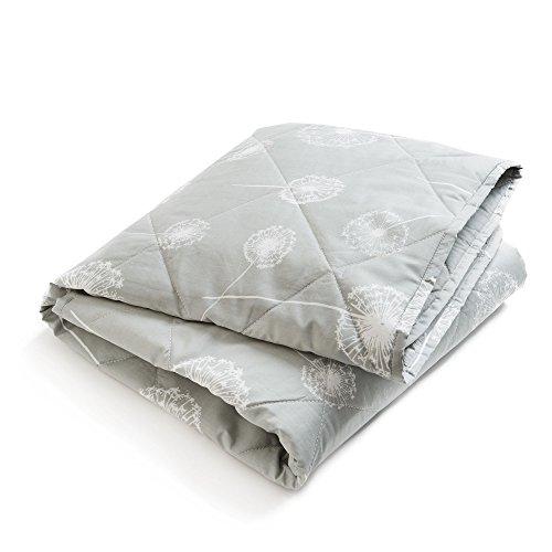 Brooklyn Born - Colcha orgánica de Wishes & Dreams, color gris y blanco, talla única