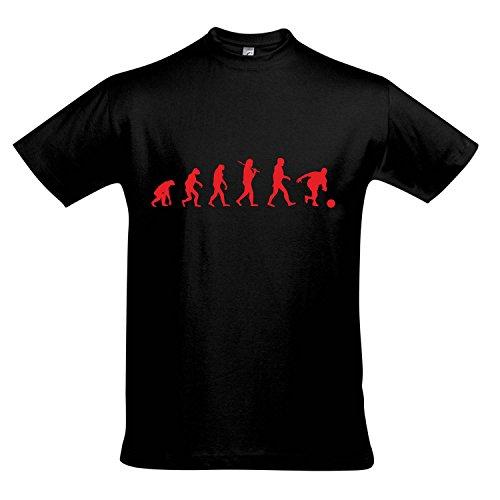 T-Shirt - EVOLUTION - Bowling Sport FUN KULT SHIRT S-XXL , Deep black - rot , XXL