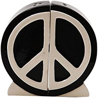 Peace Sign Attractives Salt Pepper Shaker Made of Ceramic