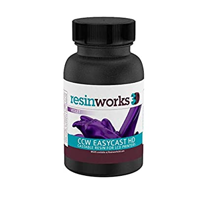 Resinworks 3D printer resin CCW EasyCast HD violet LCD - 125 gram Sample Bottle