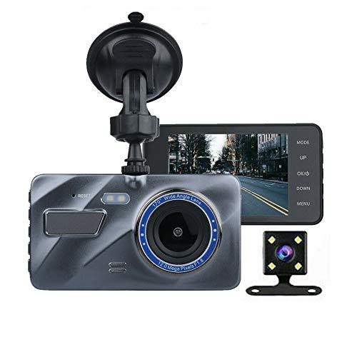 """Dash CAM, 720P Dash Camera para automóviles Pantalla LCD de 4 """"Cámara para automóvil Grabadora DVR Gran Angular de 170 ° con WDR, Sensor G, grabación en Bucle y detección de Movimiento (Gris)"""