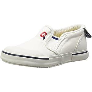 [キャロット] スニーカー 撥水 14~21cm 0.5cm有 男の子 女の子 キッズ CR ST14 ホワイト 16.5 cm 2E
