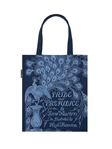 Bolsa de transporte de lona com tema literário e livro para amantes de livros, leitores e bibliófilos, Pride and Prejudice, O/S