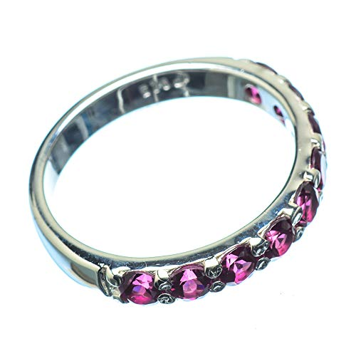 Ana Silver Co Pink Tourmaline Ring Size M (925 Sterling Silver)