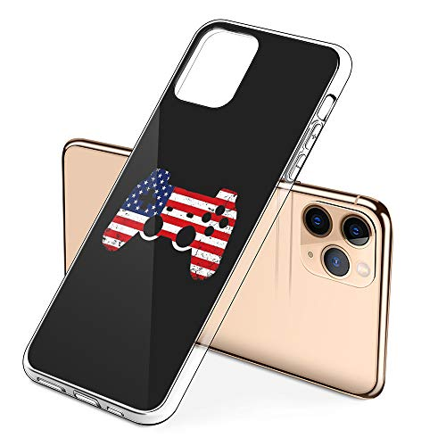 Protective Phone Cases iPhone 11 Pro Max with USA Flag Video Game Controller Design on Premium PC Hard Back - Best Essential Accessories