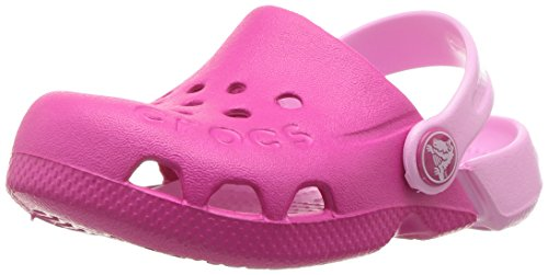 Crocs unisex-baby Electro Clog, candy pink/carnation, 9 M US Toddler