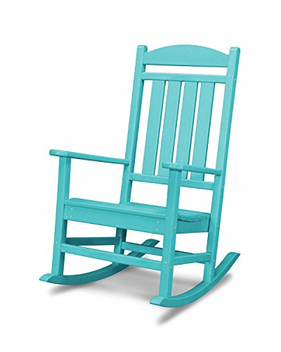 POLYWOOD R100AR Presidential Rocking Chair, Aruba