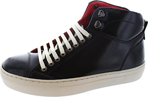 Base Herren 's Tablet Leder Hi Tops, Hi Shine Black - Größe: 42.5