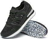 katliu Zapatillas de mujer, zapatos con cordones huecos, 21193-13, color Negro, talla 40.5 EU