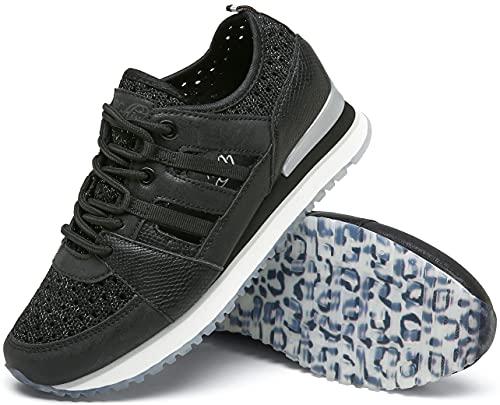 katliu Zapatillas de mujer, zapatos con cordones huecos, 21193-13, color Negro, talla 38 EU
