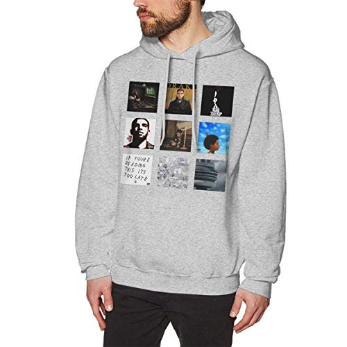 Ytdbh Herren Hoodie Kapuzenpullover, Men's Hoodie Sweatshirt Old-Drake Cotton Sweater Black