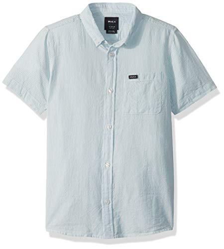 RVCA Jungen Thatll DO HI Grade Short Sleeve Woven UP Shirt Button Down Hemd, Blau, Groß