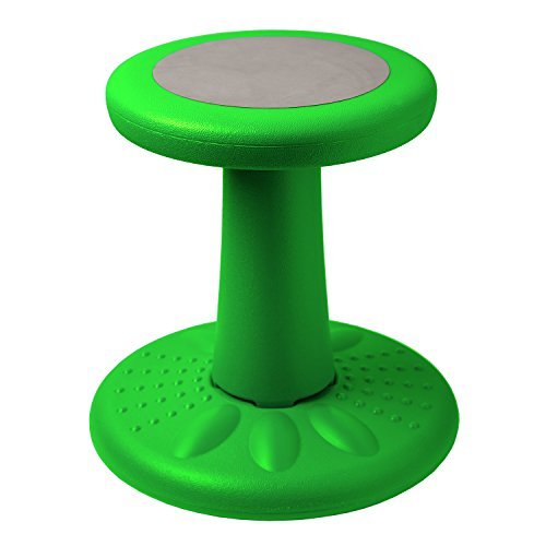 Active Kids Chair by Studico – Wobble Chair Pre-School - Elementary School - Age Range 3-7y – Grades K-1-2 - 14' High – Flexible Seating Classroom - Corrects Posture - Green