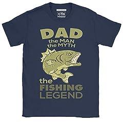 Hombre Papá el Hombre, el Mito, la Camiseta Divertida de la Leyenda de la Pesca