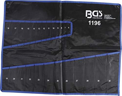 BGS 1196-LEER | Tetron-Leertasche für Maul-Ringschlüssel-Satz Art. 1196 | Rolltasche