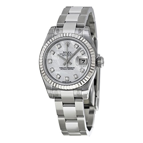 Rolex Datejust Lady Diamond Mother of Pearl Automatic Ladies Watch 179174
