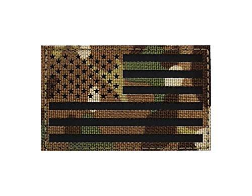 Bandera de los Estados Unidos Reflectante parche táctico para mochilas gorras chalecos cascos uniformes Airsoft, aplicación por costura