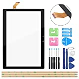OCOLOR Black Touch Panel Digitizer Replacement Screen Glass for Vankyo MatrixPad S30 10 inch Touchscreen with Tools (Not Include LCD)