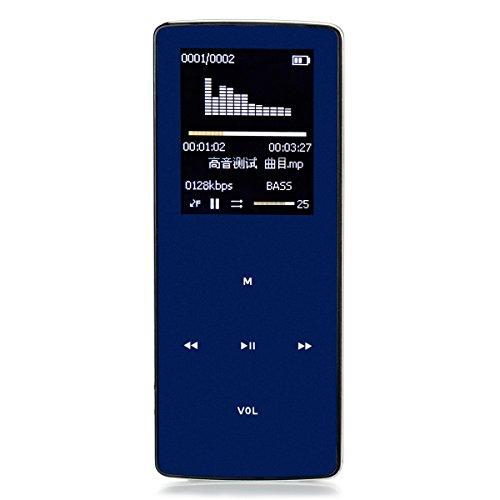 ONN W6Dark Blue Bluetooth mp3Radio FM Sports Media Musique MP3/MP4Player 8Go