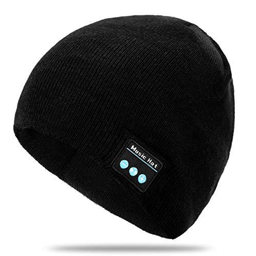 mysuntown Bluetooth Beanie, Bluetooth 5.0 Wireless Hat Upgraded Unisex Knit Bluetooth Winter Music Hat for Men and Women