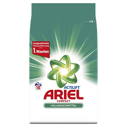 Ariel Compact Vollwaschmittel Pulver, 5er Pack (5 x 18 Waschladungen)