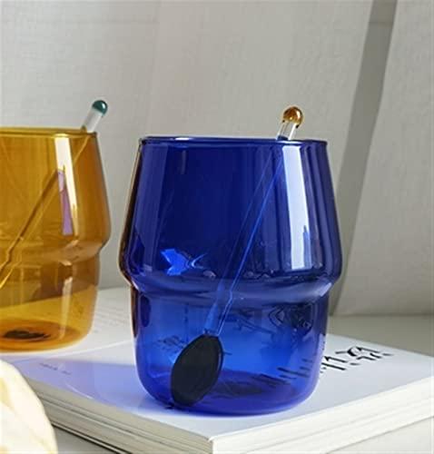 Café de café espesado Tazas de cerveza Café Tazas de conexión Dazzle Dazzle Color de la leche de leche Cerveza Taza de cristal con la botella de agua de la manija ( Capacity : 201 300ml , Color : D )