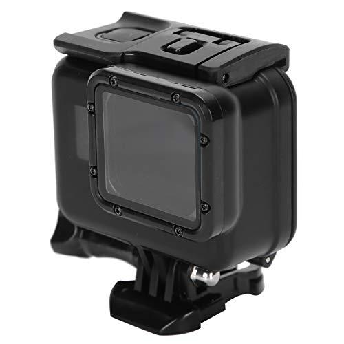 Asixxsix Funda Protectora, práctica Carcasa Impermeable anticaídas, Carcasa Trasera Transparente para cámaras de Movimiento GoPro Hero 5 6 7 Cámaras de Movimiento