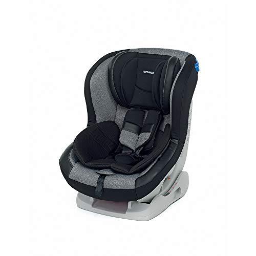 Foppapedretti Mydrive Seggiolino Auto Gruppo 0+/1 (0-18kg), per Bambini dalla Nascita Fino a 4 Anni Circa, Grigio (Carbon)