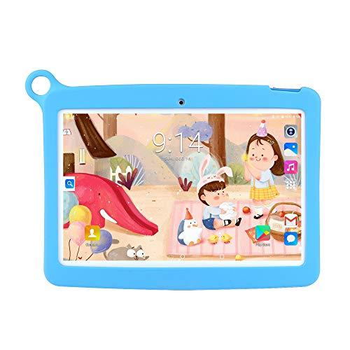 WANGOFUN Android Tablets PC, 10.1 Inch Kids Tablet met Veiligheid Oogbescherming IPS Scherm Duurzame Bescherming Case Beste Gift voor Kinderen, Blauw