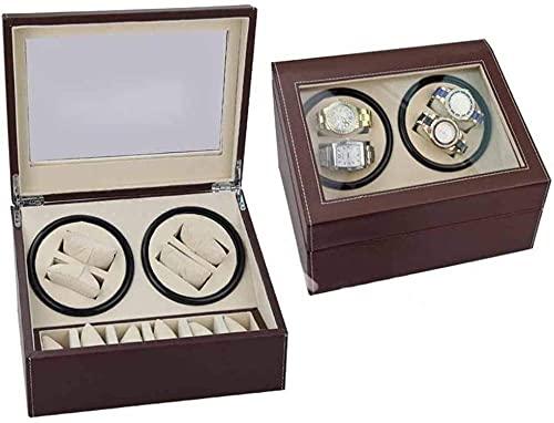 Caja de regalo de reloj de doble cabeza negra PU motor eléctrico caja de cuerda automática reloj Shaker reloj mecánico Shaker-A