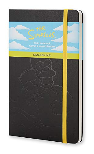 "Moleskine Limited Edition The Simpsons Notebook, Hard Cover, Large (5"" x 8.25"") Plain/Blank, Black, 240 Pages"