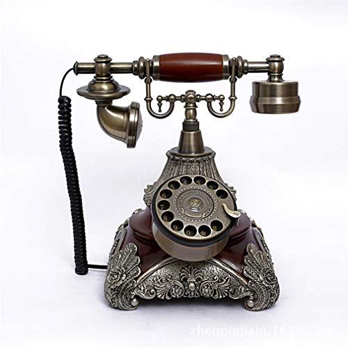 WDXLT Cerámica Clásico Teléfono De Marcación Rotatoria,Creatividad Línea Terrestre con Cable,Altavoz Timbre Extra Fuerte Llamada Cómoda Teléfono Retro Vintage 25.5x20x37cm (10x8x15inch)