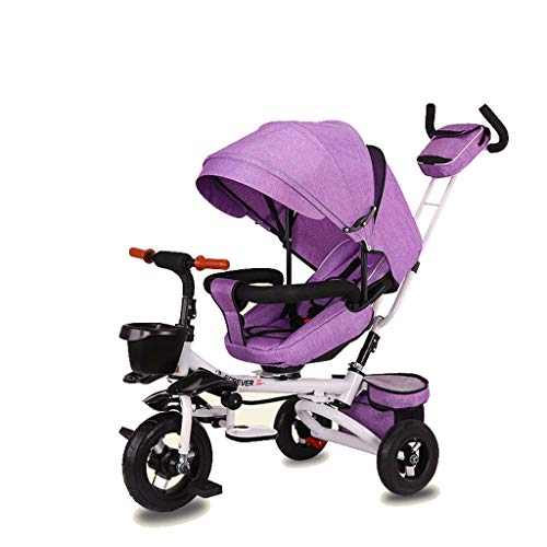 Lowest Prices! Moolo Folding Children's Tricycle, Reclining Bicycle 1-3-6 Years Old Baby Stroller Li...