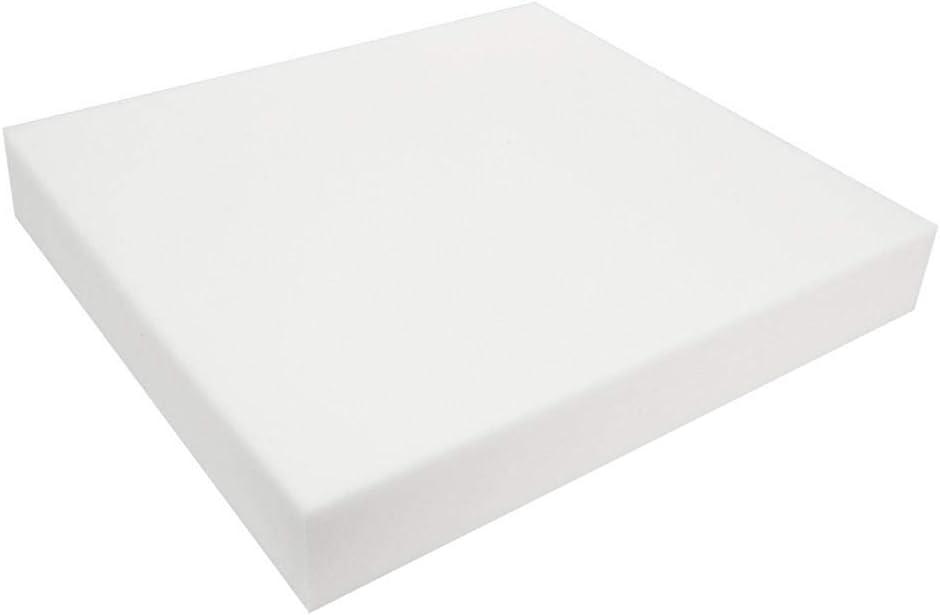 LHBBHSH 12 Inch Lame Heights Density Seat Foam White Cushion She