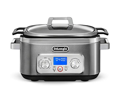 De'Longhi KM1641D Livenza All-in-One Programmable Multi Cooker Stainless Steel