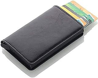 THERESA Antitheft Men Vintage Credit Card Holder Blocking Rfid Wallet PU Leather Unisex Security Information Aluminum Purs...