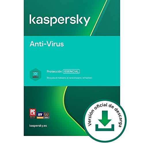 Kaspersky Anti-Virus 2021 | 2 PCs | 1 Año | PC | Código de activación vía correo electrónico
