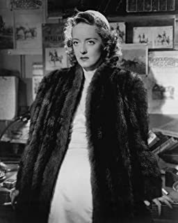 Bette Davis in Dark Victory in fur coat and glamorous dress 8x10 Promotional Photograph