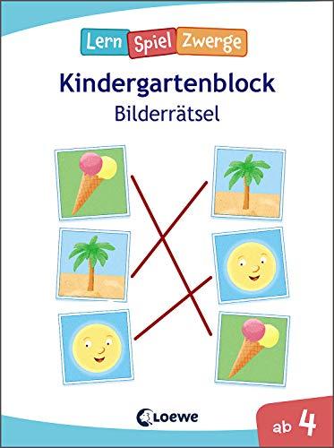Die neuen LernSpielZwerge - Bilderrätsel: Kindergartenblock ab 4 Jahre - Lernspiele und Übungen für Kindergarten und Vorschule